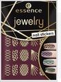 Наклейки для ногтей Essence Jewelry nail stickers, №09, 5 г
