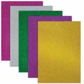 Цветная пористая резина для творчества (пенка в листах), А4, 210х297 мм, BRAUBERG, 5 листов, 5 цветов, с блёст
