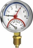 "Термоманометр радиальный TIM, 6 Бар, 120, 1/2""н, MP-У"