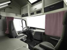 Комплект автоштор Эскар Blackout - auto XL, сиренево - коричневый, 2 шторы 240 х 100 см, 2 шторы 120 х 160 см, 2 подхвата