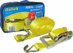 Стяжной ремень DolleX, 3 т, АВТОЛГ_657, желтый, 6 м