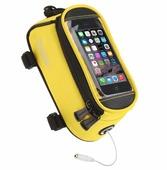 Велосипедная сумка Roswheel на раму размер M (8.5х8.5х18.5 см, жёлтый/чёрный)