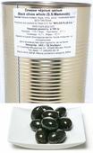 Mylos plus S.S.Mammoth Оливки чёрные с костью, 4,326 л (вес основного продукта 2,5 кг)