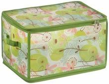"""Короб для хранения Handy Home """"Весна"""", складной, цвет: зеленый, 30 х 40 х 25 см"""