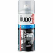 Антигравий KUDO гладкий, аэрозольный, 520мл, серый