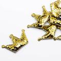 Корона с двусторонними пайетками 40x60мм, цвет золотой