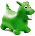 Игрушка-попрыгун Lite Weights Надувной Динозаврик (с насосом, зеленый) зеленый