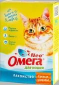 """Лакомство """"Омега Neo+"""" с морскими водорослями """"Крепкое здоровье"""" для кошек 90 таблеток, 45 г."""