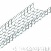 Лоток проволочный 100х300мм, Ф3.8мм, оцинкованный, 3 метра