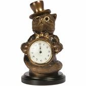 Часы настольные/каминные BOGACHO Чеширский кот, 42010 Б, бронза