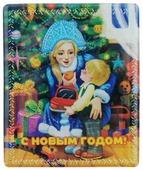 """Магнит Феникс-презент """"Снегурочка с ребенком"""", 6 x 5 см"""