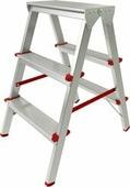 Лестница-стремянка Новая высота NV 112 алюминиевая двухсторонняя 2x3 ступеней