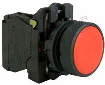 Кнопка красная без фиксации 1но+1нз в сборе Schneider Electric, XB5AA45