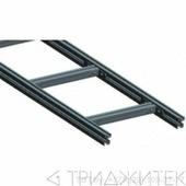 Лестничный лоток, прямая секция шириной 400 мм, алюминий, 3 метра