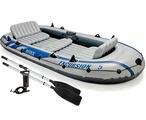 INTEX 68325 Excursion 5 Set Надувная лодка 366*168*43 см. (цвет серый)