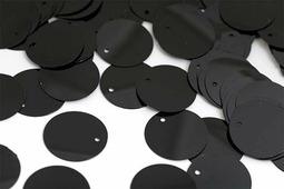"""Пайетки """"Ideal"""", цвет: черный (A075), 35 мм, 50 г"""