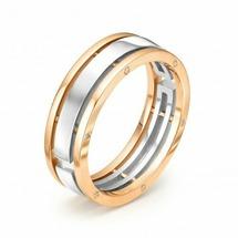 Кольцо c бриллиантами из комбинированного золота 585 пробы BrilliantStyle 928-110