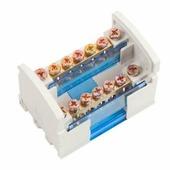 шина на DIN-рейку в корпусе (кросс-модуль) L+PEN 2х7 IEK YND10-2-07-100