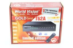 World-Vision T62А +(обучаемый пульт) Цифровой ТВ приемник TV-тюнер ресивер приставка цифрового эфирного телевидения бесплатно 20 каналов DVB-T2