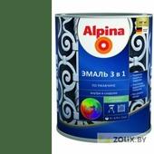 Alpina Эмаль 3 в 1 (RAL 6002 Зеленый) 2,5 л