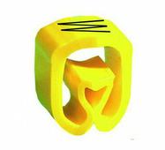 """Маркер закрытого профиля Partex PA-02 на провод 0.2-1.5 мм², символ """"W"""", желтый/черный (катушка 1000 шт.) {PA-..."""