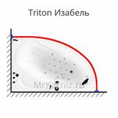 Карниз для ванны Triton Изабель 170х100 (Тритон Изабель)