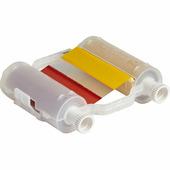 Риббон Brady B30-R10000-KRYG-8 многоцветный, черный-красный-желтый-зеленый, 110 мм х 60.9 м, длина плашки 200 мм. {gws14...