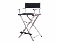 Алюминиевый складной стул визажиста. Режиссерский стул
