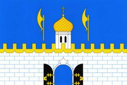 Флаг Сергиево-Посадского района (Флажный шелк, 140 х 210 см)
