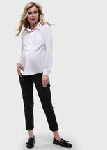 """I Love Mum Рубашка """"Долорес"""" для беременных и кормящих; цвет: белый (aw19) (46)"""