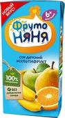 ФрутоНяня сок мультифруктовый с 6 месяцев, 0,2 л