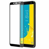 Противоударное защитное стекло на весь экран Full Glue Screen Cover черное Samsung Galaxy J8