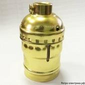 """Ретро патрон """"ASR Gold RS-03"""", материал: алюминий, цвет: золото"""