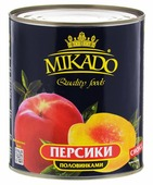 Mikado персики половинками в сиропе, 425 мл
