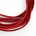 Шнур Вощеный, 1 мм, Полиэстер, Темно-Красный
