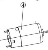 двигатель 12В (10,8В) MG1213ELi WORTEX KP523-04
