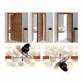 Morelli Luxury Комплект на рото-дверь Morelli Swing для полотна шириной от 565-915 мм х 2100 мм черный