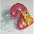 Цифра 2 Мишка - форма для мыла