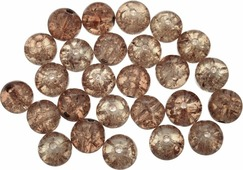 """Бусины Астра """"Кракле"""", цвет: темно-золотистый (1), диаметр 10 мм, 26 шт"""