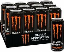 Black Monster Energy Khaos энергетический напиток, 12 штук по 0,5 л