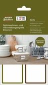 Avery Zweckform Этикетки самоклеящиеся для СВЧ посуды и посудомоечных машин Living 47,5 x 48,5 мм 24 шт