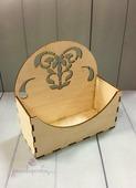 Ящик Деревянный с узором № 1, 16*7*16 см