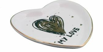 Декоративная тарелка Magic Home Сердечко, белый