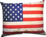 """Подушка декоративная Штучки, к которым тянутся ручки """"Флаг холст. США"""", цвет: серый, 48 x 38 см"""