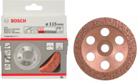 Твердоспл. чашечный круг Ф115мм мелкое зерно Bosch (2608600177) Германия