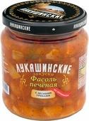 Лукашинские фасоль печеная по-деревенски с лесными грибами, 450 г