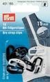 """Клипсы для бретелей """"Prym"""", цвет: белый, черный, 15 мм, 12 шт"""