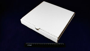 Коробка под пиццу 250*250*33 белая.9015/1533