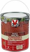 """Масло для террас """"V33"""", цвет: тиковое дерево, 2,5 л"""