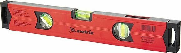 """Уровень """"Matrix"""", магнитный, усиленный, фрезерованный, 2 глазка + 1 зеркальный, 600 мм"""